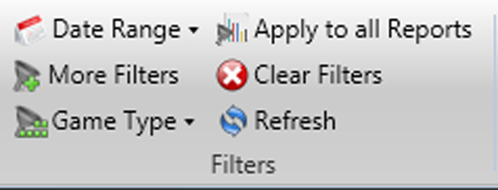 3) Check the gametype filter - Beside the Date Range and More Filters is the game type filter. Make sure all games or the specific games are correctly