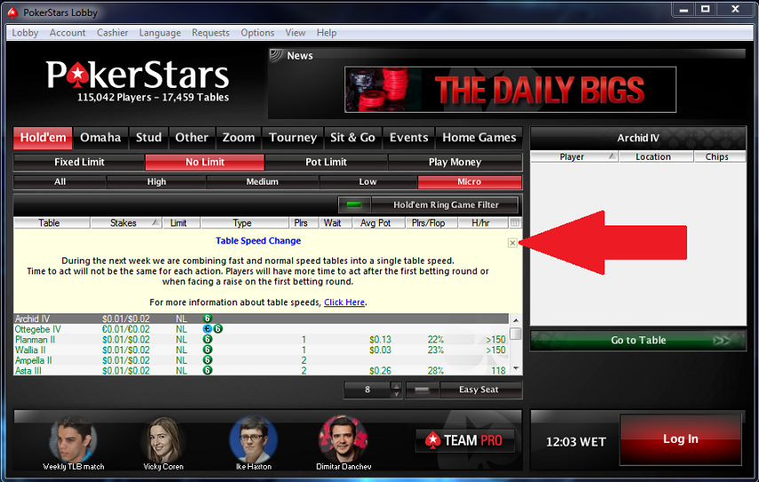 pokerstars lobby login
