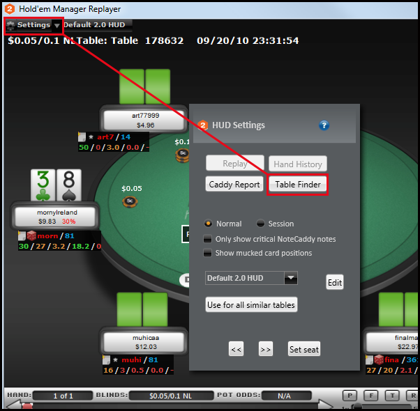 Holdem manager table manager not working